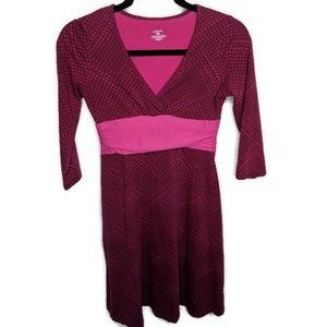 Patagonia Pink Geometric Prink Faux Wrap Dress XS